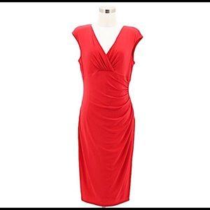 Lauren Ralph Lauren Bright Red Cocktail Dress